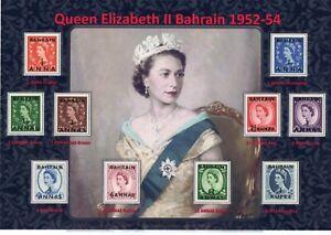 NICE DISPLAY OF QUEEN ELIZABETH II 1952-54 BAHRAIN SET MINT