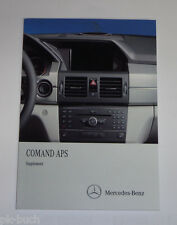Owner's Manual Supplement Mercedes Benz C-Class W204 Comand APS Stand 11/2010