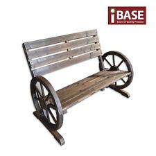 Garden Wooden Wagon Bench Timber Wheel Chair Seat Backyard Patio Furniture Loung