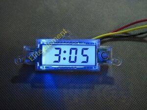 Digital Clock 5-50Vdc Waterproof Car Motorcycle Motorbike Scooter Bike Tool Kit