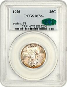 1926 25c PCGS/CAC MS67 - Standing Liberty Quarter - Tied for Finest Known!