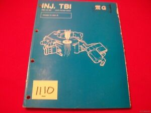 FACTORY 1983-87 RENAULT/JEEP THROTTLE BODY FUEL INJECTION TBI SERVICE MANUAL