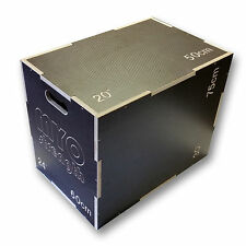 """MYO strength Wooden Anti-Slip Plyometric Box (3 Heights 20""""/24""""/30"""") - New"""