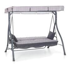 Dondolo zanzibar altalena tortora in metallo 3 posti trasformabile a letto