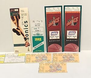 Lot of 8 Seattle Supersonics Ticket Stubs NBA Playoffs  1990's