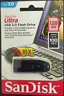 SanDisk 128GB Cruzer Ultra USB 3.0 100MB/s Flash Pen Drive SDCZ48-128G-U46