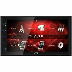 "JVC Double Din 6.8"" AV Receiver with Bluetooth, USB, AUX & FM/AM KW-M150BT"