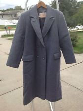 Vintage PENDLETON 100% Wool Gray Double Breasted Coat Long Overcoat Womens L