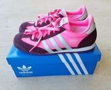 watch b5e2d 2d1cd ADIDAS ORIGINALS DRAGON Hot Pink Burgundy Brown Sneakers Shoes Size 7.5 EUC