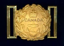 Royal Canadian Navy - Officer full-dress sword-belt buckle- Rich gilt finish