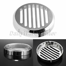 Chrome Motorcycle Durable ABS Round Horn Cover 3.5 for Honda VTX 1300C 2002-09