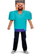 Childs Boy's Classic Minecraft Steve Mine Craft Mojang Costume Medium 7-8
