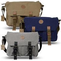 Rakuda Canvas Shoulder Messenger Bag Backpack Leather Satchel Briefcase Bookbag