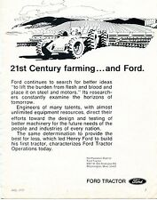 1973 Dealer Print Ad of 21st Century Farming and Ford Tractor