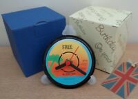 FREE (Rock Band) RECORD LABEL CLOCK Desk / Side Table + Display Stand Gift