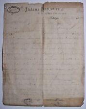 Letter-1869-Alabama Institution for Deaf Dumb and Blind-Talladega Alabama