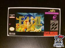 E.V.O. Search For Eden Snes Replacement Game Label Sticker Precut