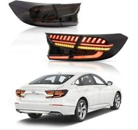 Smoke Tinted LED Tail Lights For 18-20 Honda Accord 10th Gen Rear Lamps Assembly