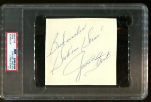 James Street Signed Cut 5x5 Autographed Texas Longhorns PSA/DNA *7188