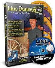 LINE DANCING 6 PACK Videos - Trautman Lessons DVDs NEW
