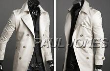 HotღAutumn Winter Men Slim Stylish Trench Coat Double Breasted Long Jacket New