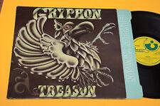 GRYPHON LP TREASON TOP PROG 1°ST ORIG GERMANY 1977 EX ! CON INNER TESTI