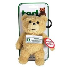 Ted Talking Backpack Clip Plush Teddy Bear - R-Rated 5 Phrases - In Stock