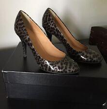 JCrew Mona Pump Heels, Graphite Tortoise, Patent Leather, 6