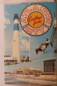 New Jersey NJ Atlantic City Lighthouse Postcard Old Vintage Card View Standard