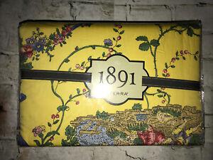 Rare Sferra 1891 Troubadour Cotton-Sateen King Duvet Cover & Pair Shams 3PC Set