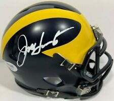 JIM HARBAUGH SIGNED AUTOGRAPHED MICHIGAN WOLVERINES MINI FOOTBALL HELMET PSA/DNA