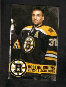 Boston Bruins--Patrice Bergeron--2012-13 Pocket Schedule--JetBlue