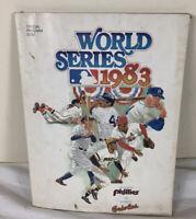 1983 WORLD SERIES PROGRAM Baltimore Orioles vs Philadelphia Phillies