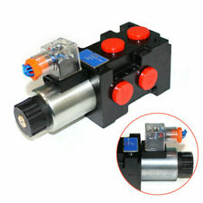 6 Port Hydraulic Solenoid Operated Selector Diverter Valve 13 Gpm 12 Volt 3 Plug