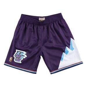 Utah Jazz 1996 NBA Mitchell & Ness Authentic Swingman Shorts - Purple/Teal