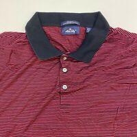 Allen Solly Polo Shirt Men's 2XL XXL Short Sleeve Red Black Mercerized Cotton