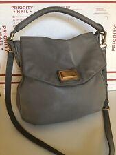 MARC BY MARC JACOBS 'ClASSIC Q LIL UKITA' Grey Leather Flap Satchel Purse Bag