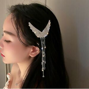 Tassel Ins Hairgrips Alloy Hairpin Hair Accessories Rhinestone Wing Hair Clips