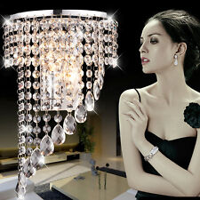 Modern Bedroom K9 Crystal LED Wall Sconces Lamp Hallway Hotel Wall Light Fixture