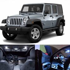 LED Lights Interior Package Kit For Jeep Wrangler JK 4-Door -(16 LEDs White)
