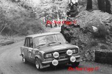 Antonio ZANINI SEAT 124D Especial 1800 Monte Carlo Rally 1977 fotografia 1