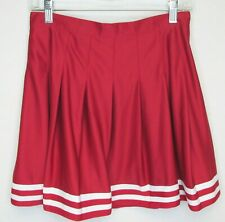 New listing Zoozatz Cheerleader Red White Stripe Pleated Skirt Poly Cosplay Costume Small