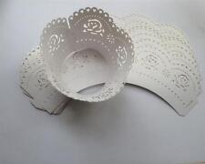 48 x Ivory Cupcake wrapper BACK förmchen IMBALLAGGIO DECORAZIONE MUFFIN copertine matrimonio 8