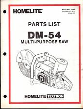 HOMELITE MULTI-PURPOSE SAW DM-54 PARTS MANUAL P/N 18044    (228)