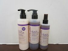 3 CAROLS DAUGHTER BLACK VANILLA SHAMPOO & CONDITIONER & LEAVE-IN MM 8281