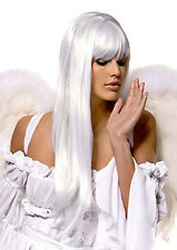 Gorgeous! Long Snow White Ecstasy Wig Angel Costume Party w/FREE Wig Cap USA 104
