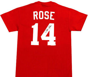 PETE ROSE T-Shirt--OFFICIALLY LICENSED--Name & Number--Short Sleeve T-Shirt