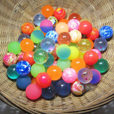 10x Rubber Bouncing Balls Colorful Elastic Jumping Outdoor Kids Toy Party Filler