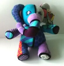 Romero Britto for Enesco Jasper Elephant Plush by Gund Patchwork Pop Plush NEW
