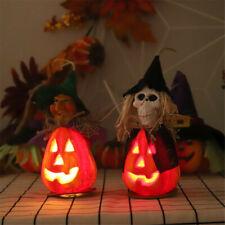 2pcs Halloween Ghost Festival Decoration Pendant with Light Pumpkin Taro Party
